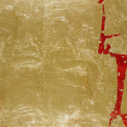 Abstract Artwork, Gold Leaf Painting, Dance