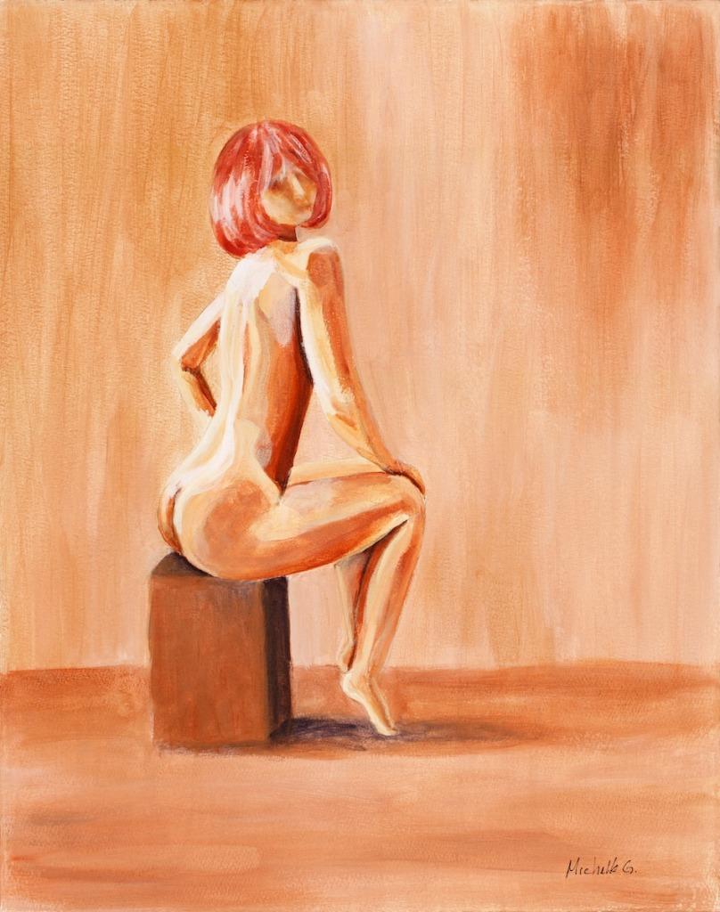 Dancer Girl Square Stool