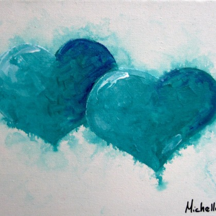 Dual Heart Painting